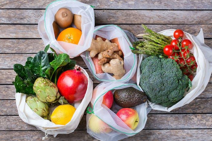 Zero Abfall, plastikfreies Einkaufen und Konzept