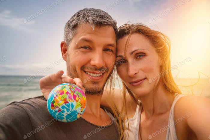 summer couple on beach