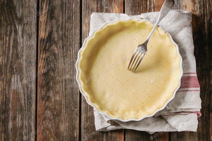 Teig zum Backen Quiche Torte