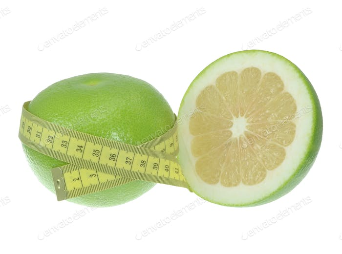 Green Grapefruit and Measuring Tape