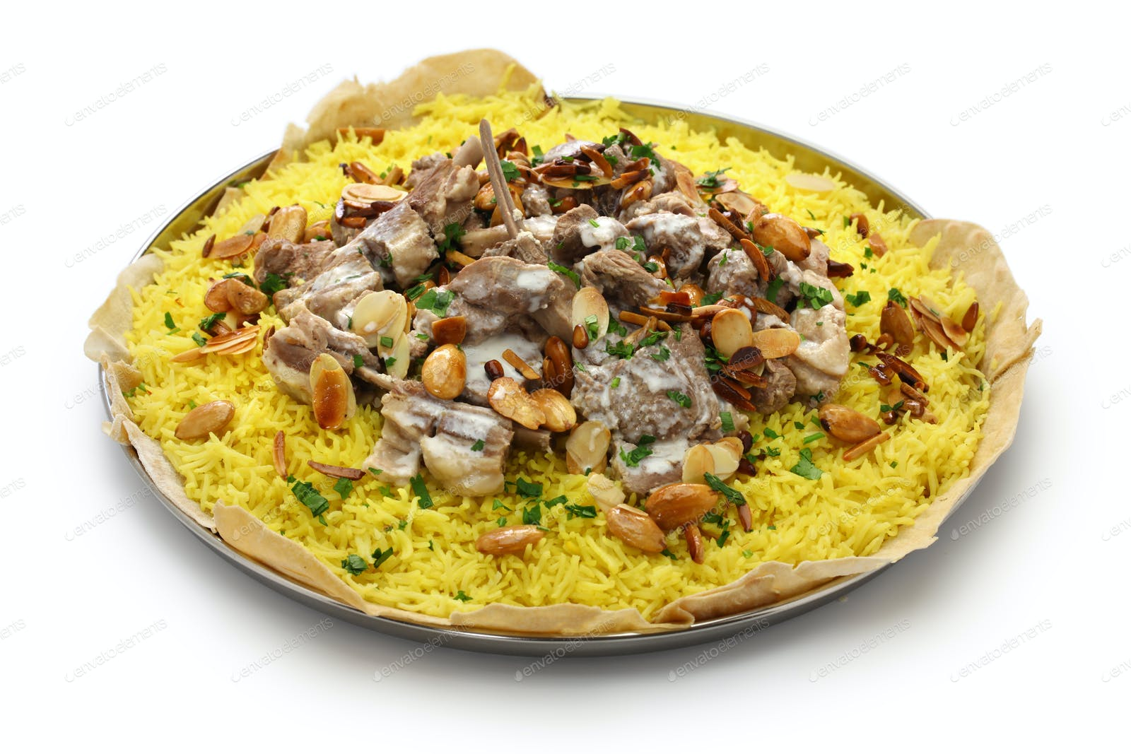 pivote consumirse abajo  mansaf, Jordanian national dish photo by motghnit on Envato Elements