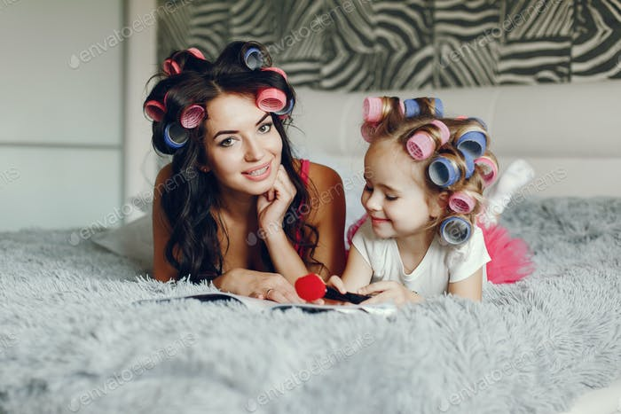 glamour mother with daughter