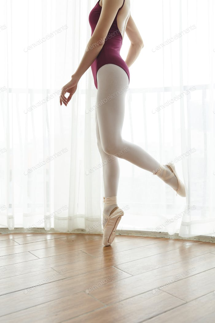 Training ballet dancer