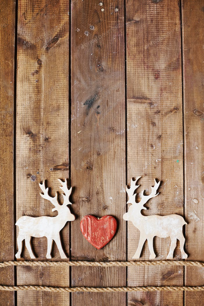 Reindeers and heart