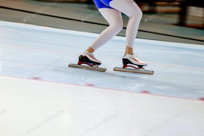 woman legs athlete speed skater