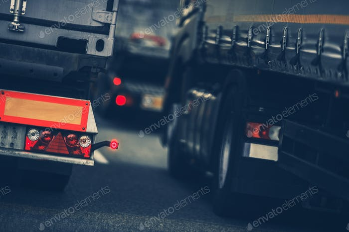 Trucks Heavy Traffic