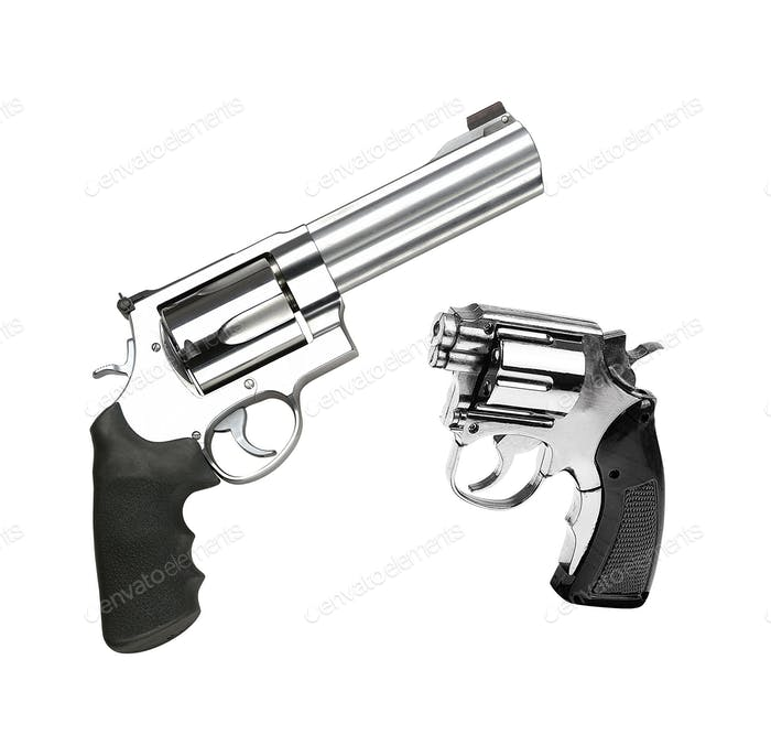 Revolvers isolated