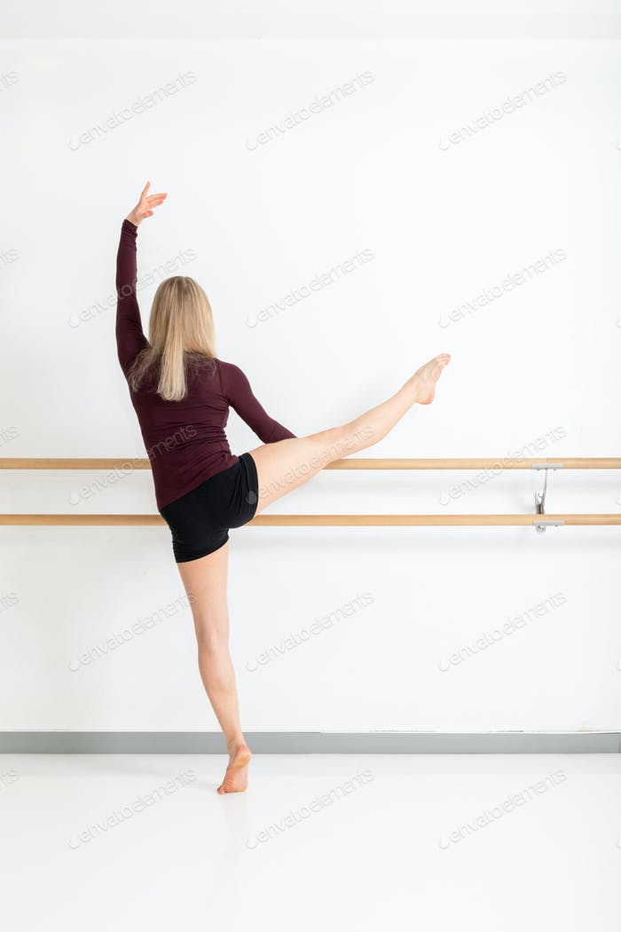 female dancer on the pole