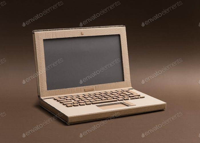 Handmade cardboard laptop