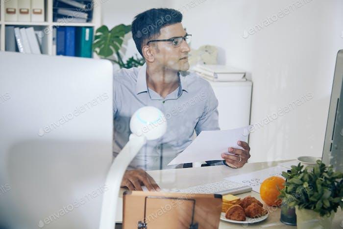 Programmer checking data