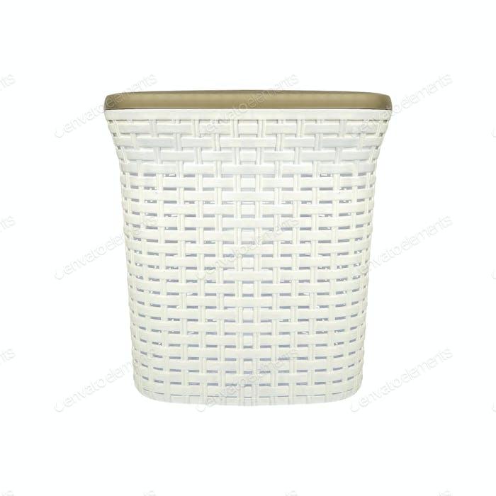Empty Laundry Basket isolated