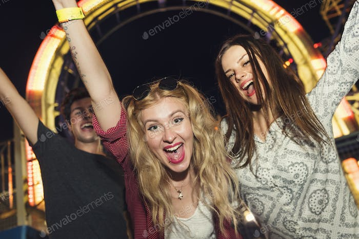 Amusement Leisure Funny Happiness Enjoyment Concept