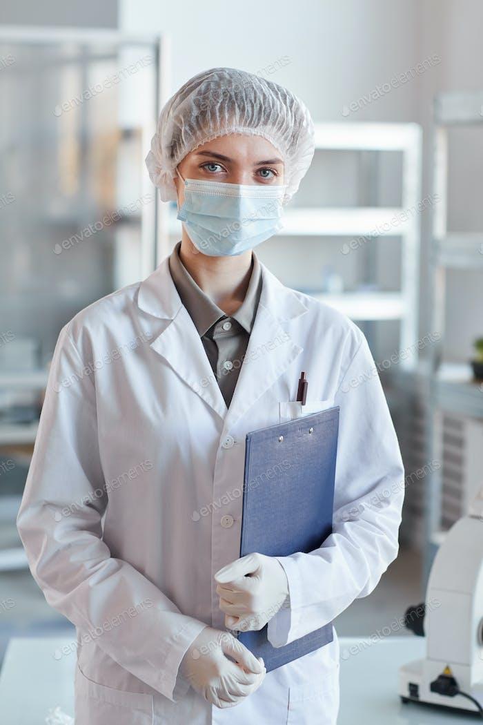 Female Medic in Lab