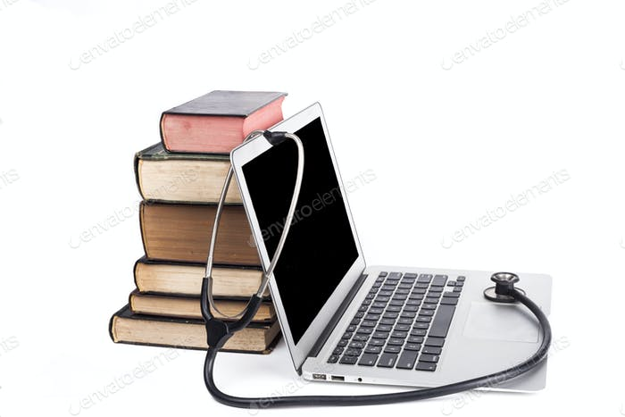 Black Stethoscope and Books