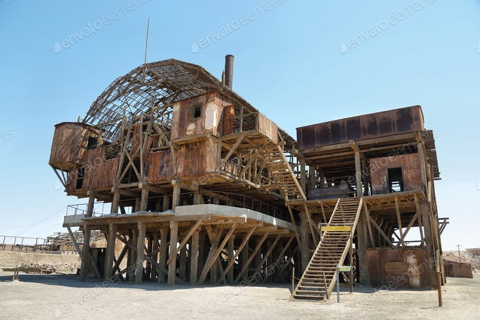 Santa Laura old Saltpeter Works in the Atacama Desert
