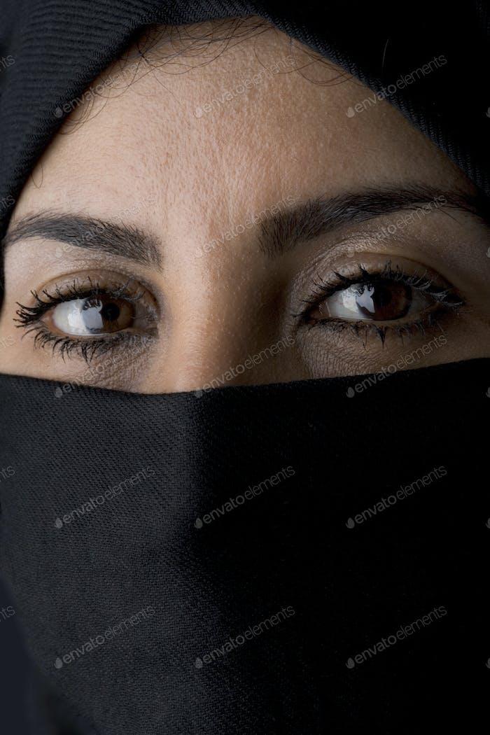 Portrait of an Arabic Muslim Woman