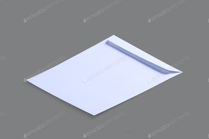 White Paper Envelope Isolated