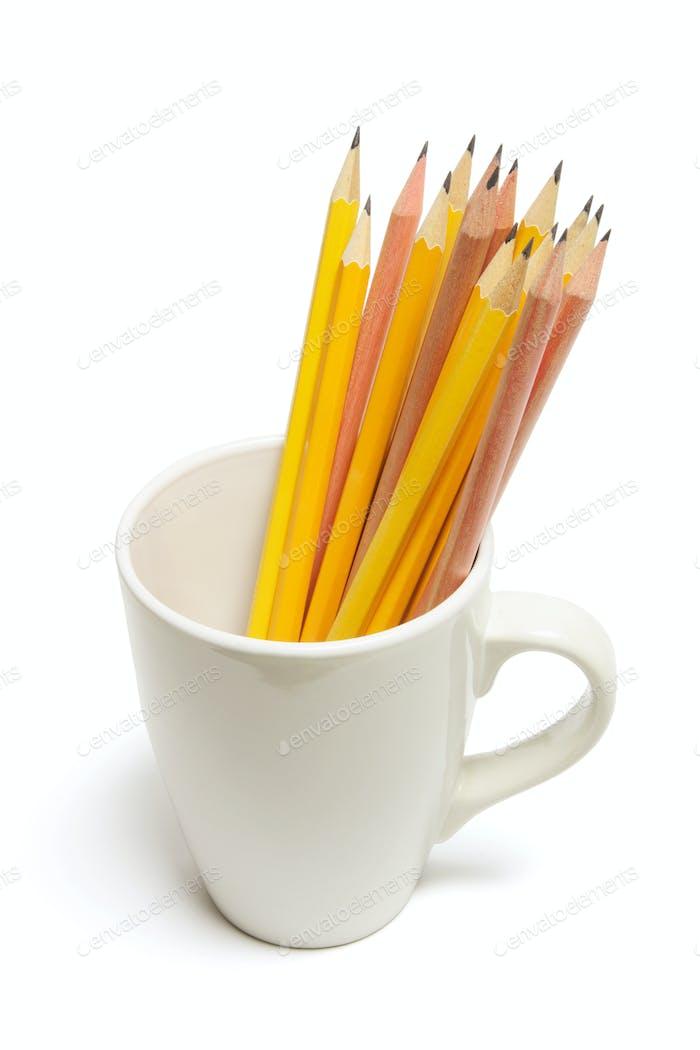 Bleistifte im Becher