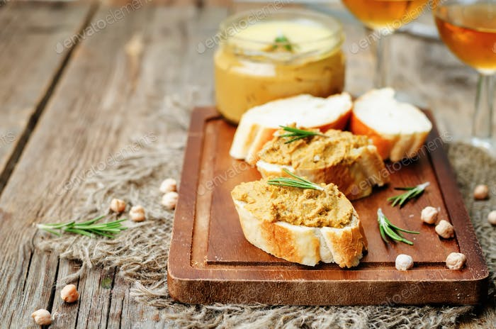 chickpeas pumpkin turkey liver pate