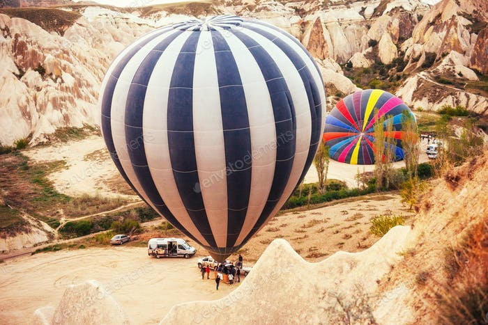 Cappadocia, Turkey. The first crew of flame