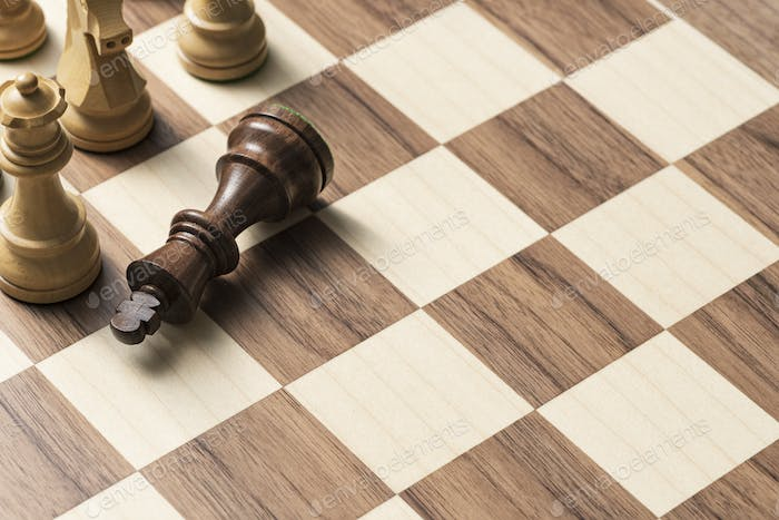 Chess game: the king is checkmated