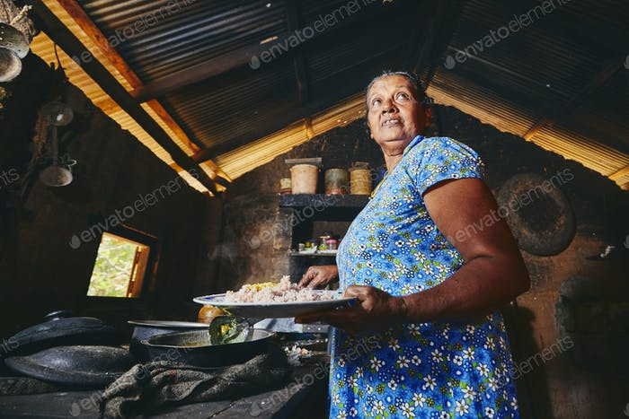Old home kitchen in Sri Lanka