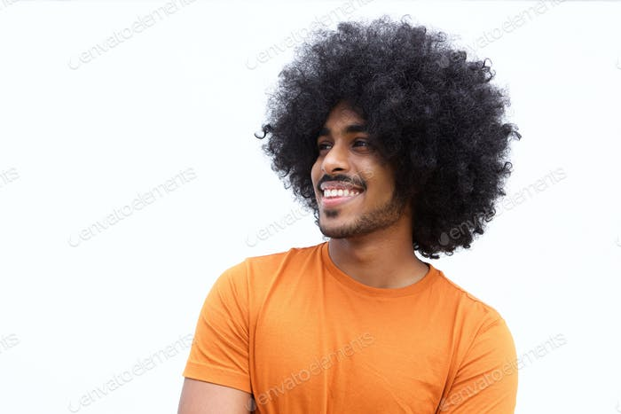 Confident black guy smiling