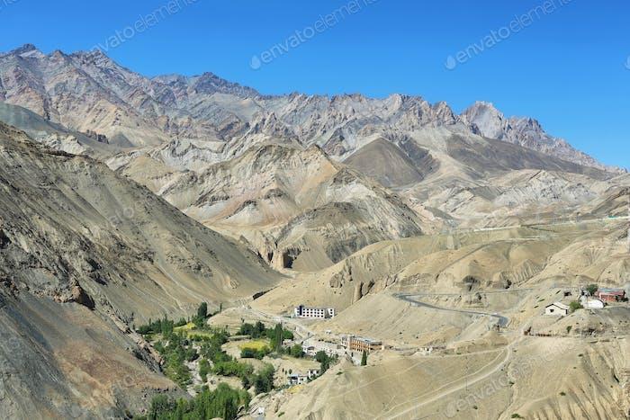 Lamayuru Village as seen from the Monastery, Ladakh, India