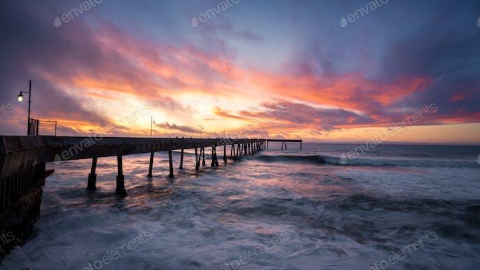 Fiery Sunset at Pacifica Municipal Pier