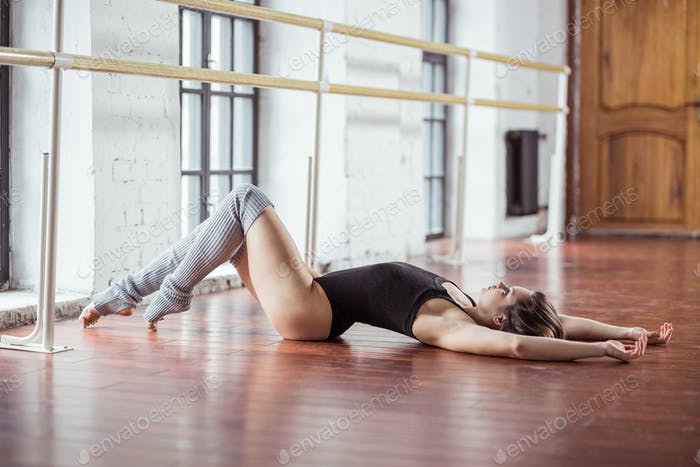 Young attractive dancer indoors