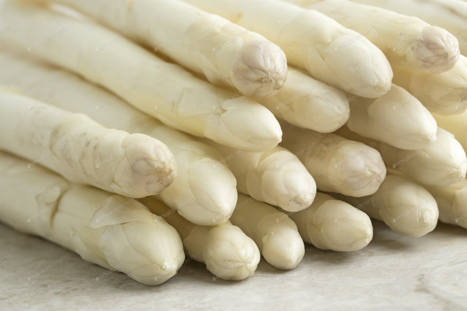 Raw White Asparagus Tips Photo By Picturepartners On Envato Elements