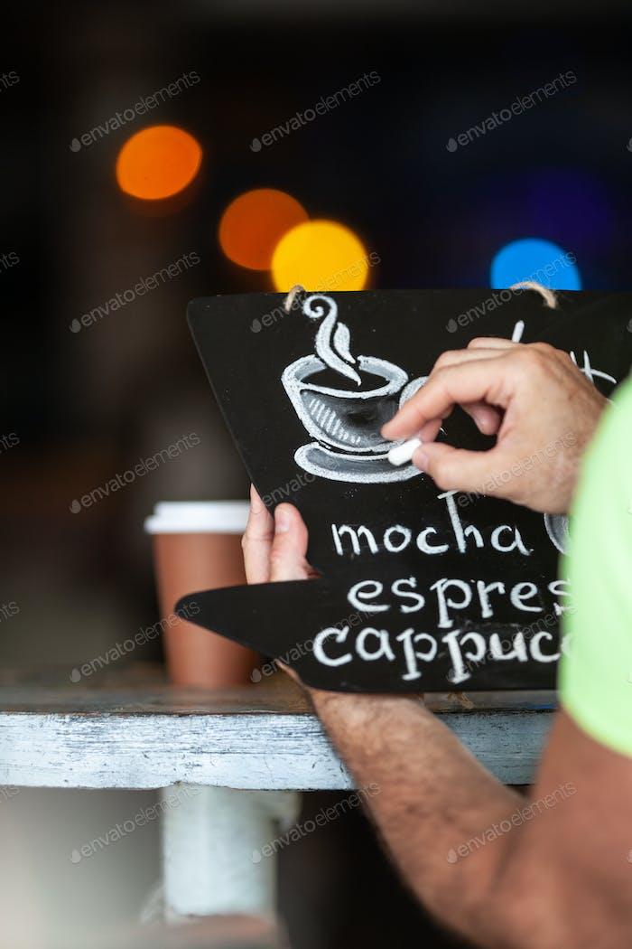 Eine Kaffeekarte