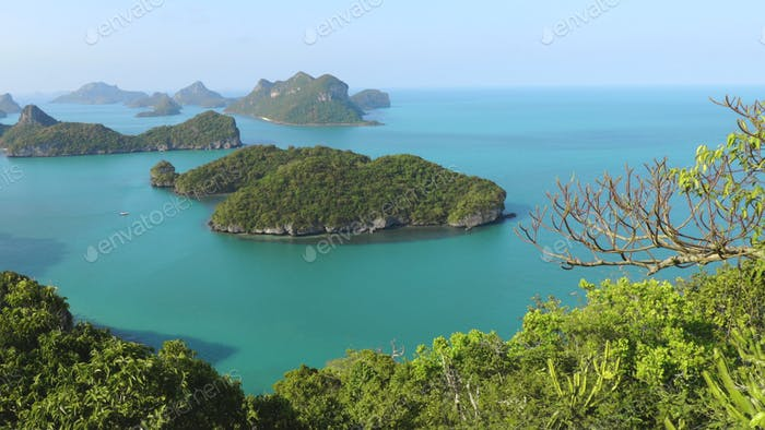 exotische nationale Thailand Marine Park Luftaufnahme