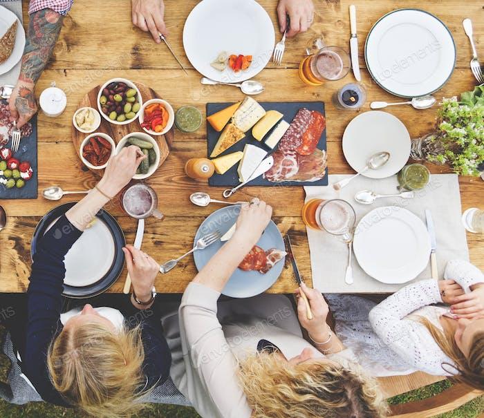 Concepto de comedor para Grupo de personas