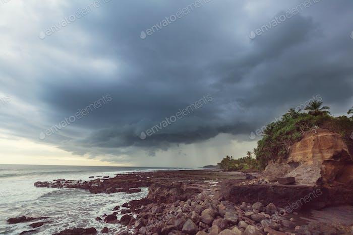 Ocean coast on Bali