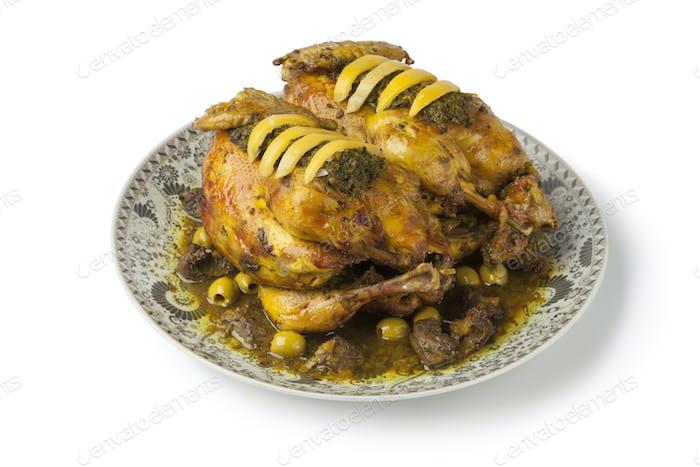 Moroccan chicken dish with chermoula
