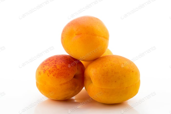 sweet apricot on a white