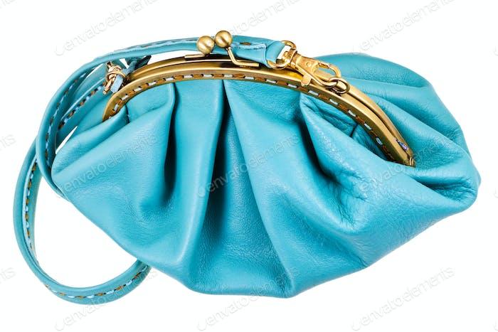 geschlossen blau leder damen hanbag