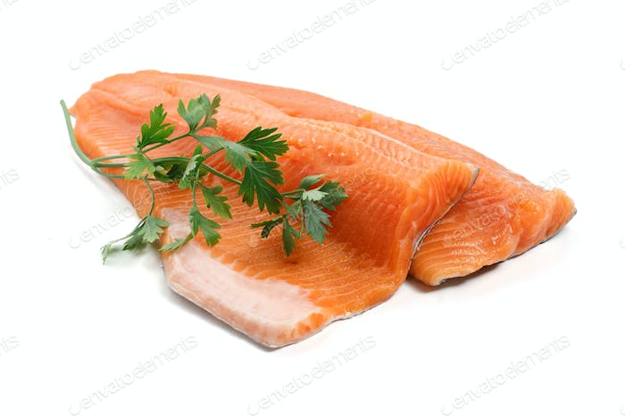 trout fillet with parsley