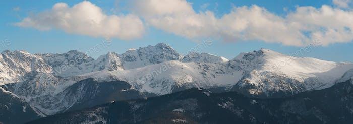 Panoramic view of Tatra Mountain and from Gubalowka Peak