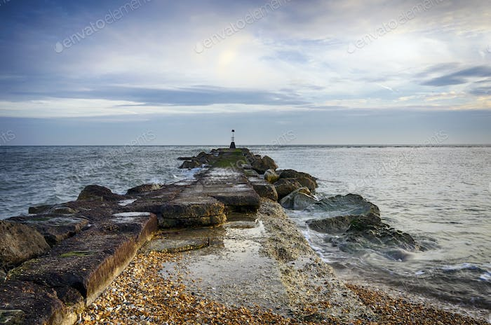 Sea Groyne at hengistbury Head in Dorset