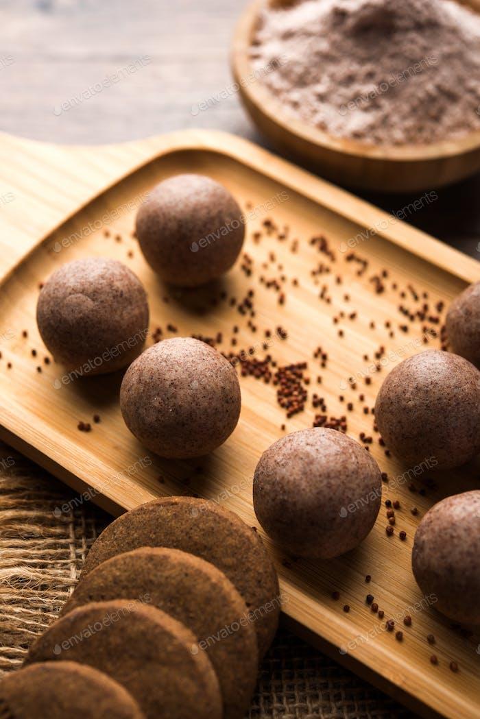 Ragi Ladoo & Biscuits