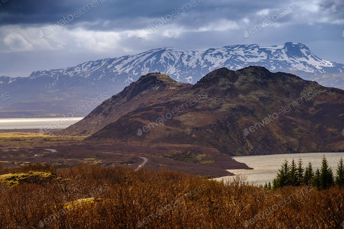 Landscape of Thingvellir National Park ,Iceland
