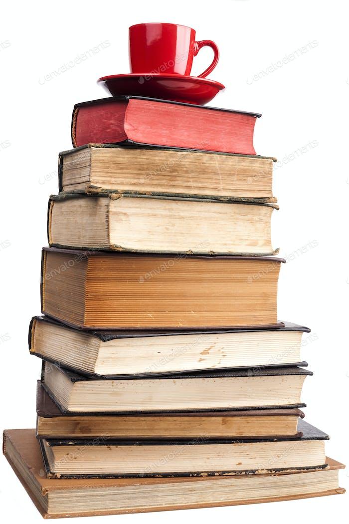 Red Mug and Books