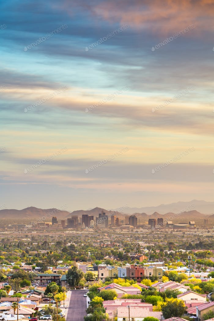 Phoenix, Arizona, USA downtown cityscape