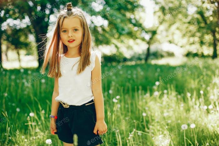 Little girl in a park