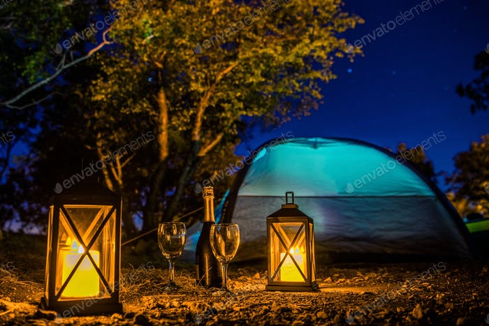 Romantic Camping Night
