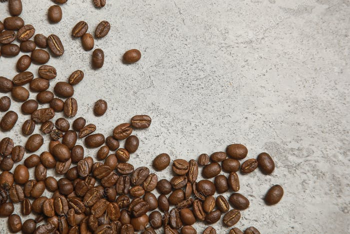 Coffee Beans on Grey