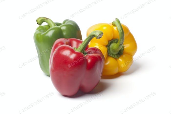 Red,green,yellow bell pepper