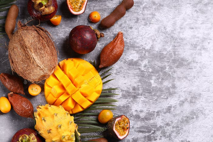 Assorted Tropical Exotic Fruits